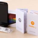 Zum Lieferumfang des Motorola Moto G (2. Generation) gehört Kurzanleitung und Datenkabel. Ein Netzteil legt Motorola nicht bei.