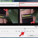 """Durch den Spiegeleffekt wird die Schrift rückwärts angezeigt. Hast du in deinem Video Spiegelschrift aufgenommen, kannst du diese richtig ausrichten. Oben rechts legst du den Dateinamen für das bearbeitete Video fest, wenn du nicht möchtest, dass die Originaldatei überschrieben wird. Wenn du fertig bist, klickst du unten rechts auf """"Video speichern""""."""