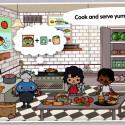 """""""Toca Town"""" ist ein Kinderspiel für Kinder ab drei Jahre und enthält keine In-App-Käufe. 1,29 Euro gespart."""
