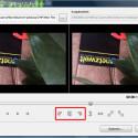 Das Video wird in das Programm geladen. Du siehst links das Bild, wie es aktuell ausgerichtet ist, und rechts jeweils eine Vorschau, die deine Änderungen berücksichtigt. Mit den drei Pfeiltasten unterhalb der Vorschaubilder drehst du dein Videobild um 180 oder 90 Grad nach links oder rechts.