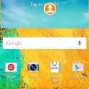 Der Startbildschirm des Galaxy Note 3 hat sich nach dem Update kaum verändert. (Bild: SamMobile)