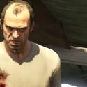 GTA 5 auf der PS3: Travors Gesicht liegt im Schatten - die einsame Haarinsel ausgebrannt.
