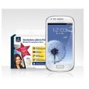 Das Samsung Galaxy S3 mini ist bei Tchibo mit einer Internet-Flatrate für ein Jahr ausgestattet, welche zusätzlich 200 Minuten und SMS pro Monat in alle deutschen Netze enthält. Günstiger gibt es dieses Angebot im Netz bei keinem anderen Händler.