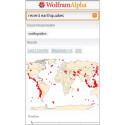 """Hinter der App """"WolframAlpha"""" verbirgt sich eine semantische Suchmaschine, die auf eine große Zusammenstellung von Algorithmen und Daten zugreift. 2,29 Euro gespart."""