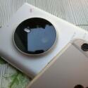 Zwei Smartphones, zweimal steht die Kamera hervor: Lumia 1030 (links) und iPhone 6 (rechts). (Bild: cnbeta.com)