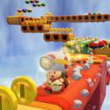 Die roten Plattformen sind dabei zu fallen, Beeilung Toad!
