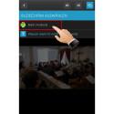 Jetzt wählst du den Bildschirm für die Ausgabe des Videos. Ist dein TV-Gerät angeschaltet und mit dem Heimnetz verbunden, wird es in der Liste angezeigt.
