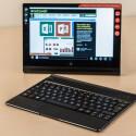 Tablet und Tastatur sind auch getrennt nutzbar. Die Entfernung darf mehr als fünf Meter betragen.