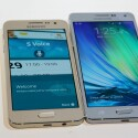 Auf der CES konnten wir für euch das Samsung Galaxy A5 (rechts) und das kleinere Schwestermodell A3 (links) ausprobieren.