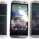 Das HTC One M9 (links) im Größenvergleich zu seinem Vorgänger. (Bild: Twitter/Steve Hemmerstoffer)