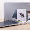 Der Lieferumfang des Aspire Switch 11 fällt angemessen aus. Der aktive Bedienstift liegt unserer Ausstattungslinie nicht bei.