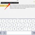 Kopierte Texte kannst du auf deinem iPad nahtlos in jede beliebige App einfügen, die Text verarbeiten kann.