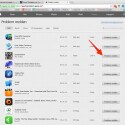 """Suche die App oder das Video, welche/s du zurückgeben möchtest, und klicke am rechten Rand auf den Button """"Problem melden""""."""