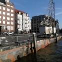 Blick in den Hamburger Hafen.