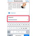 """In beiden Fällen steht im oberen Feld anschließend die Buchstaben-Zahlen-Kombination. Es ist zudem ein neues Feld """"Passwort"""" hinzugekommen. Dort gebt ihr euer zuvor ausgedachtes Passwort ein. Danach klickt ihr oben rechts auf """"Fertig""""."""