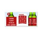 Biertrinker können sich mit den Etiketten ihre Bierflaschen selbst gestalten. Dieser Spruch ist noch von der harmloseren Sorte. Das Set mit vier Aufklebern kostet 7,90 Euro. (Quelle: Screenshot/de.personello.com/anti-valentinstag.html)