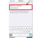 """Danach müsst ihr euch ein Passwort einfallen lassen, welches ihr benötigt, um die Sicherung wieder korrekt herzustellen. Achtet dabei darauf, dass das Passwort nicht zu einfach gewählt ist. Habt ihr das Passwort eingegeben, welches aus mindestens acht Zeichen bestehen muss, tippt ihr auf """"Weiter"""" oben rechts in der Ecke."""