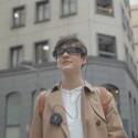 Als dezent lässt sich die Augmented Reality-Brille kaum bezeichnen.