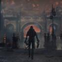 Gibt es in Bloodborne einen Tag-Nacht-Wechsel? Das bereits bekannte Areal zeigt sich im Video hell erleuchtet. (Quelle: Screenshot / IGN)