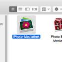 """Im Ordner """"Bilder"""" findest du bei dir vielleicht auch andere Foto-Ordner oder einzelne Bilder, die lokal auf dem Mac gespeichert sind. Du suchst """"iPhoto-Mediathek""""."""