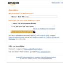 Die täuschend echt nachgestellte Amazon-Webseite erkennt ihr nur an der falschen Adresse. Ansonsten gibt es auf den ersten Blick keine Unterschiede zur tatsächlichen Amazon-Webseite.
