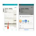 Über das Teilen-Icon am unteren Rand versendet ihr das Dokument über die native Teilen-Funktion des iPhone. An dieser Stelle ist es auch möglich, die PDF-Datei an andere Cloud-Apps zu übergeben.