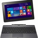 13:00 Uhr: Convertible Tablet-PC Asus T100TAL-BING-DK033B, 10,1 Zoll Touchscreen, Intel Core 2 Quad Atom Z3735D, 1,3 GHz, 2 GB RAM, 32 GB HDD, Intel HD, Windows 8, LTE. Niedrigster Preis im Internet: 419,00 Euro.