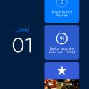 Jedes Level wartet mit drei Aufgaben.