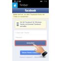 """Ihr werdet jetzt auf den Anmeldebildschirm von Facebook weitergeleitet. Tragt hier eure Login-Daten ein und tippt auf """"Anmelden""""."""