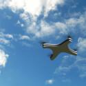 Die Apple-Drohne in der Luft.