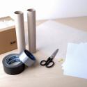 Papprollen, Alufolie, Schere und Klebeband, mehr benötigt ihr nicht für eine Camera Obscura.