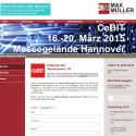 """Auch die Firma Max Müller GmbH & Co. KG lädt interessierte Unternehmen <a href=""""http://www.mm-bremen.de/archivierung/cebit-2015.html"""" target=""""_self"""">über ihre Webseite</a> mit einer Freikarte auf die CeBIT ein."""