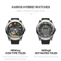 Die Hybrid Watches bieten ein transparentes digitales Display.