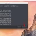 """Jetzt seht ihr die Lizenzbedingungen von Parallels Desktop 10 für Mac. Bestätigt diese bei Einverständnis mit einem Klick auf """"Akzeptieren""""."""