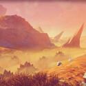 Spieler können entdeckte Planeten auch zu Fuß erkunden.