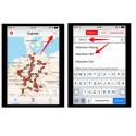 Nach dem Start der App tippt ihr zuerst oben rechts auf die Lupe. Gebt dann in das Suchfeld den Start- oder Zielbahnhof ein.