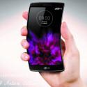 Das biomorphe Smartphone soll es in den Farben Volcano Red, Hurricane Grey und  Tsunami Blue geben. Außerdem verfügt es über 6 Zoll UHD Display.