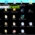 Mit einem Klick auf das Minussymbol wird der Desktop wieder angepasst.