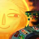 Sehr fantasievoll bis ins letzte Detail. Der Computer Mom wird als Sonne dargestellt und der Vater als Mond.