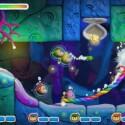 Als U-Boot macht Kirby Jagd auf gefährliche Sägefische.