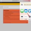 """Nachdem die Webseite vollständig geladen ist, tippt ihr oben rechts auf das Teilen-Icon. Im Kontextmenü tippt ihr auf den Button """"Zum Home-Bildschirm""""."""
