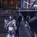 ...geht zur Brücke vor euch - auf dem rechts unten hängenden Pfeiler seht ihr den Geist. (Screenshot / Activision)