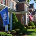 Auch auf der Erde könnte die Flagge als Symbol wirken.