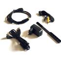 Außerdem liegt dem Scannerpaket eine Reinigungsbürste für die Säuberung der Optik bei. Als Verbindungskabel bekommt ihr ein USB-Kabel für die Stromversorgung und zum Transfer der Daten auf einen PC, ein Netzteil sowie ein TV-Kabel für Diavorführungen. Dem DF-S 290 HD liegt außerdem ein HDMI-Kabel für den Anschluss an den Ferneher als Monitor bei.
