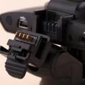 Die Rollei CarDVR-120 besitzt einen eigenen Anschluss. Das GPS-Modul im Saugfuß kann im PKW bleiben.
