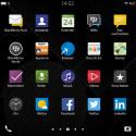 Die Icons und Menüs von BlackBerry 10 erscheinen nach dem Update nun im modernen Flat-Design. (Bild: Screenshot BlackBerry Passport)