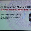 Das FE 90mm Macro G OSS soll ab Februar verfügbar sein.