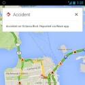 Waze-Verkehrsinformationen werden seit Juni 2013 in den iOS- und Android-Apps von Google Maps angezeigt.