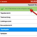 Sie werden auf die Webseite weitergeleitet. Dort sehen Sie die Meldung, dass die E-Mail erfolgreich aktiviert wurde.  (Bild: Screenshot / Kicktipp-App für Android)
