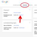 """Wechseln Sie oben auf die Registerkarte """"Sicherheit"""". Hier finden Sie auf der Karte """"Passwort"""" die """"Bestätigung in zwei Schritten"""". Standardmäßig ist diese Funktion deaktiviert. Klicken Sie auf """"Einrichten"""". (Bild: Screenshot / google.com)"""